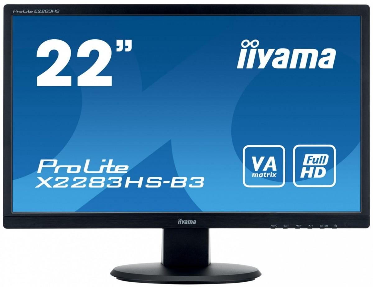 Monitor 22 ProLite X2283HS-B3 VA,HDMI,DP,2x1W,SLUCHAWKOWE WEJ.