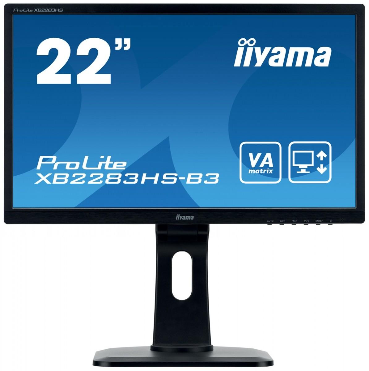 Monitor 22 XB2283HS-B3 VA,HDMI,DP,PIVOT,2x1W