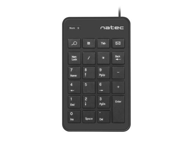 Klawiatura numeryczna Goby 23 klawisze USB czarna
