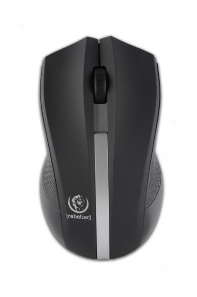 Bezprzewodowa mysz optyczna Rebeltec GALAXY Black/silver