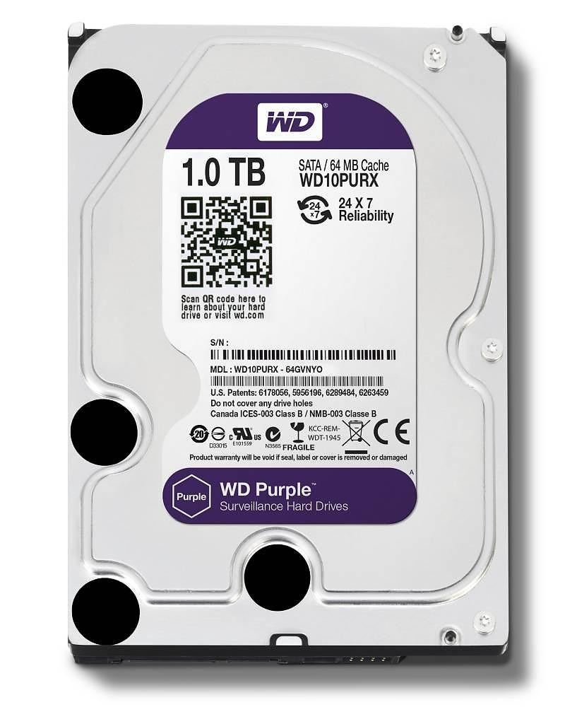 Purple 1TB 3,5'' 64MB SATAIII/5400rpm