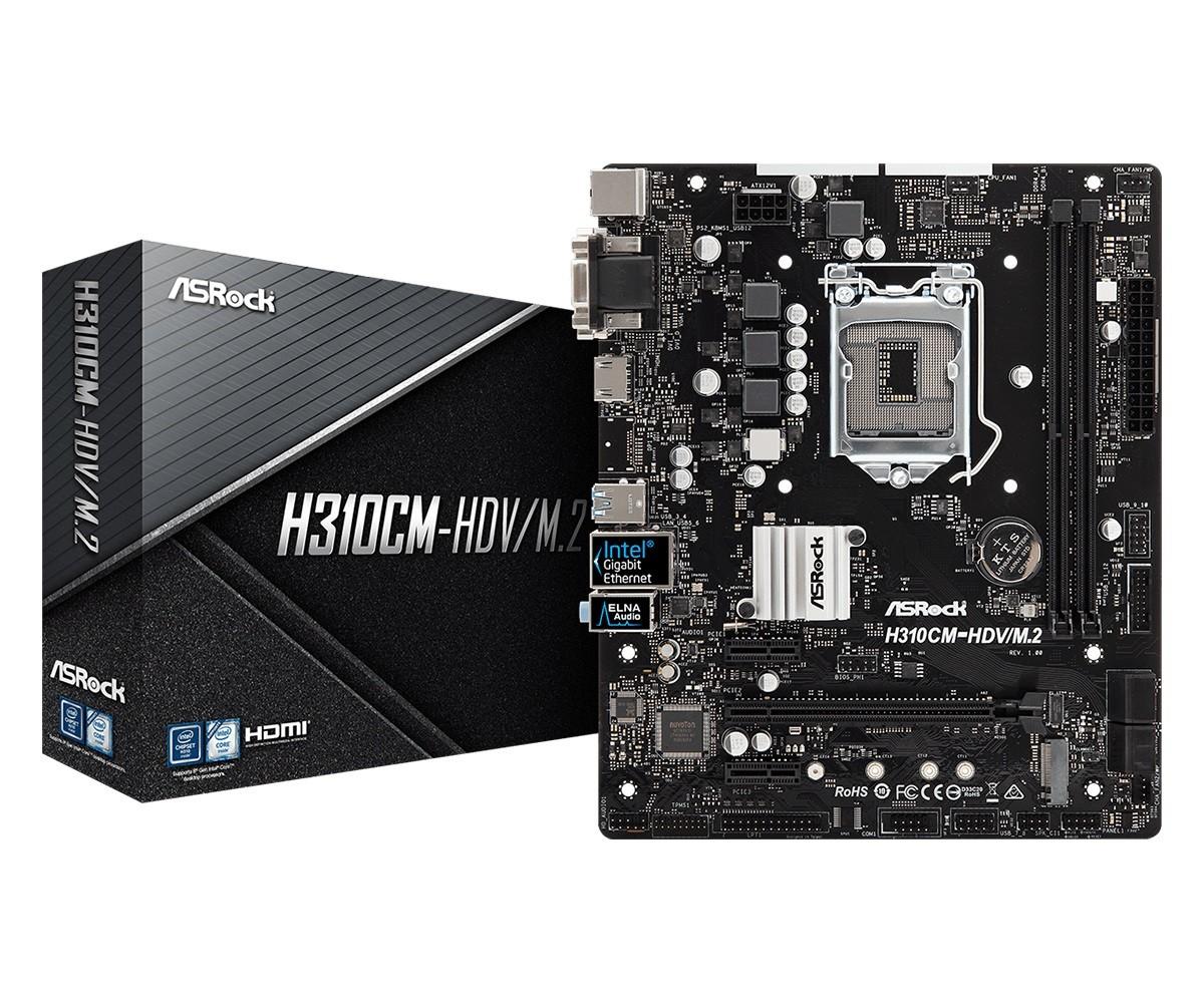 Płyta główna H310CM-HDV/M.2 2DDR4 HDMI/DVI/VGA/USB 3.1 micro ATX