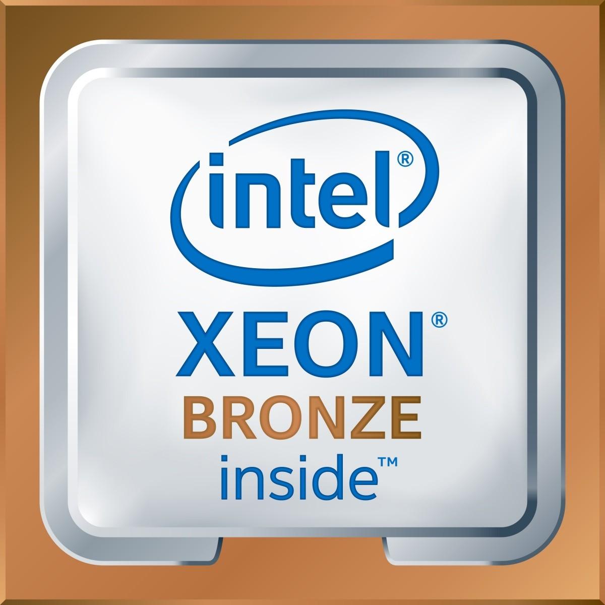 Xeon bronze 3104, 6C, 1.7 GHz, 8.25M cache, DDR4 up to 2133 Mhz, 85W TDP