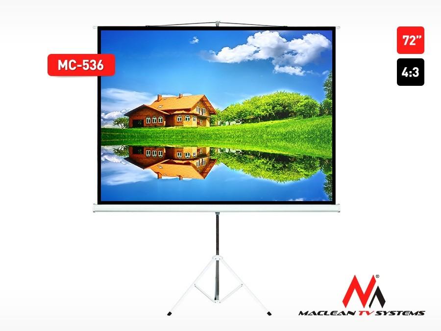 """Ekran projekcyjny MC-536 na stojaku 72"""" 4:3 145x110"""