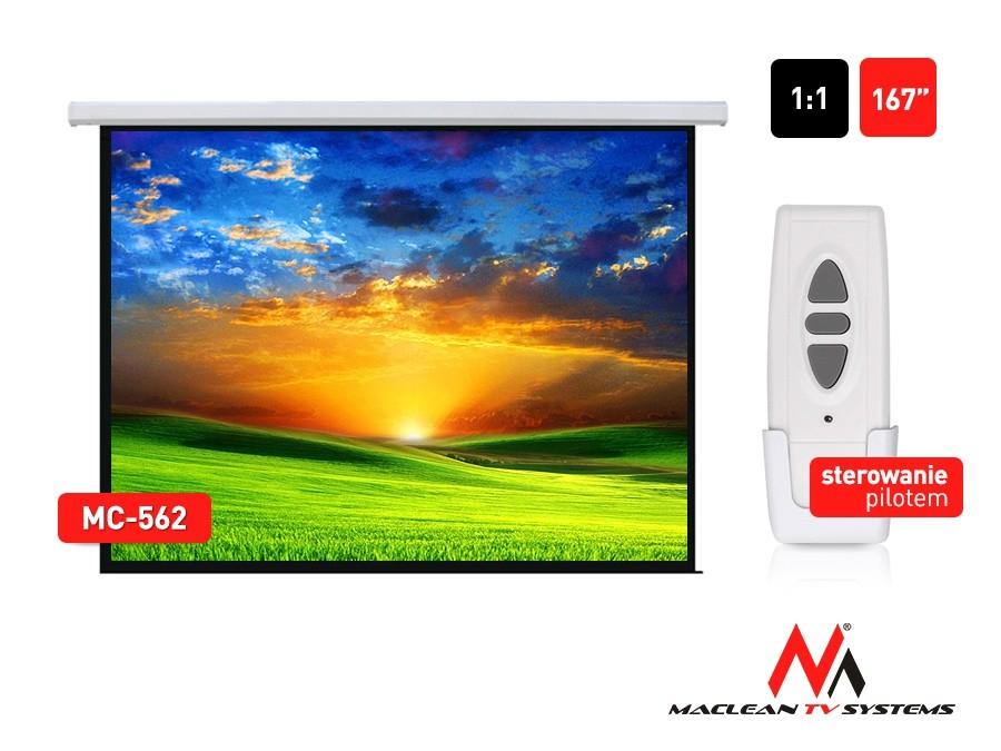Ekran projekcyjny elektr. MC-562 167 cali 1:1 300x300cm sterowanie ścienne z pilota