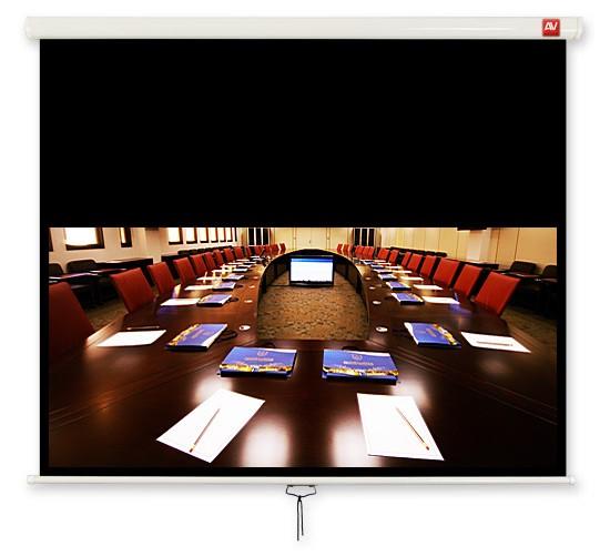 Ekran ścienny ręczny Business 200, 16:10, 190x119cm,  powierzchnia biała, matowa