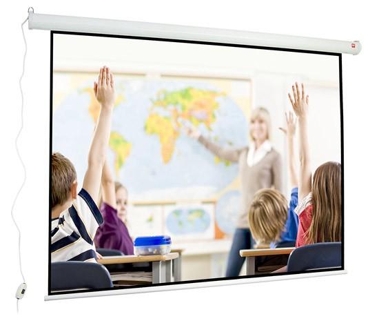 Ekran elektryczny Wall Electric 240, 4:3, 245x188cm, czarny top i ramki, Matt White