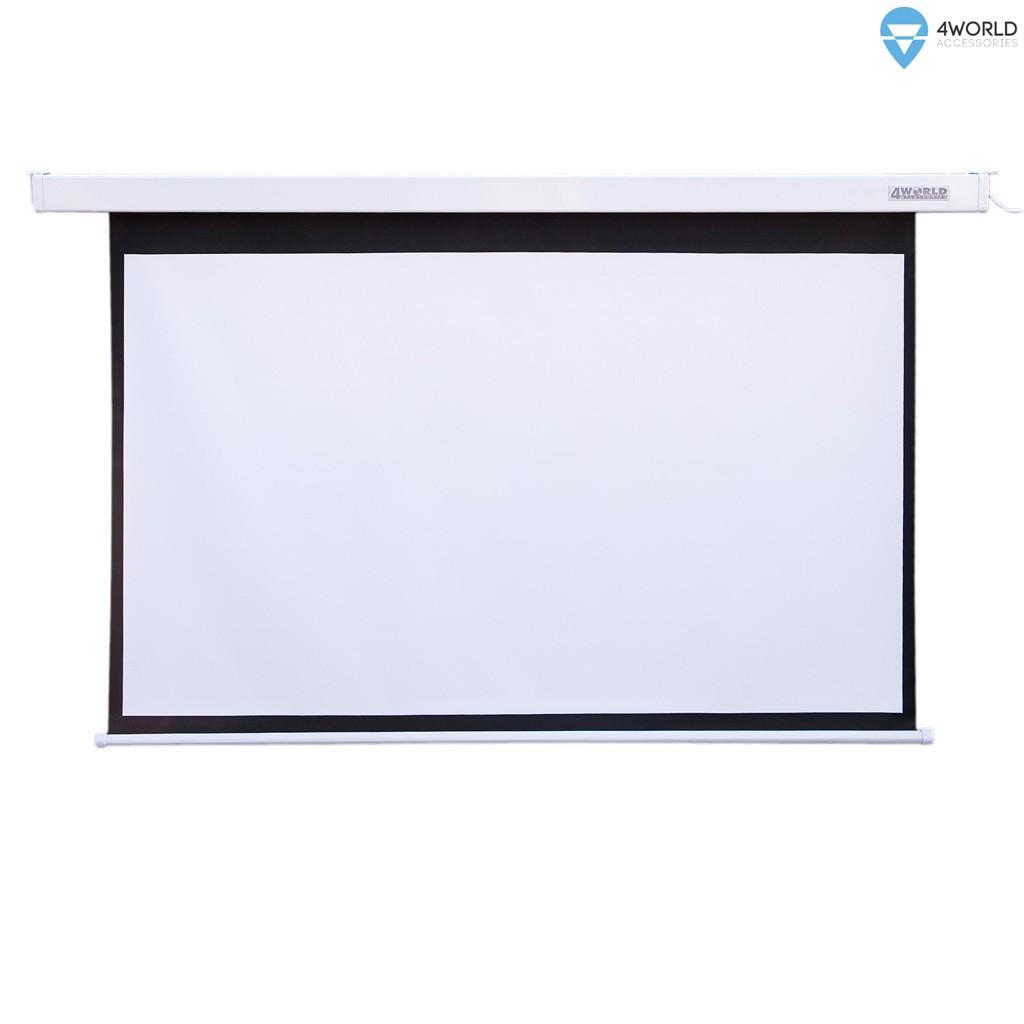 Elektryczny Ścienny/Sufitowy Ekran Projekcyjny z Pilotem 221x124 (16:9) Matt White
