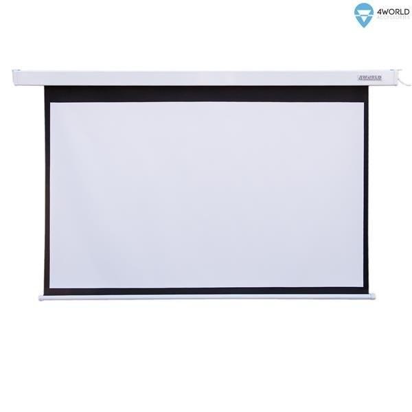 Ekran Projekcyjny z Pilotem Elektryczny Ścienny/Sufitowy 300x169cm, 136  (16:9) Matt White