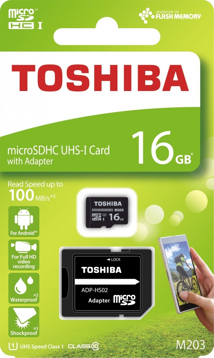 microSD 16GB M203 UHS-I U1 adapter
