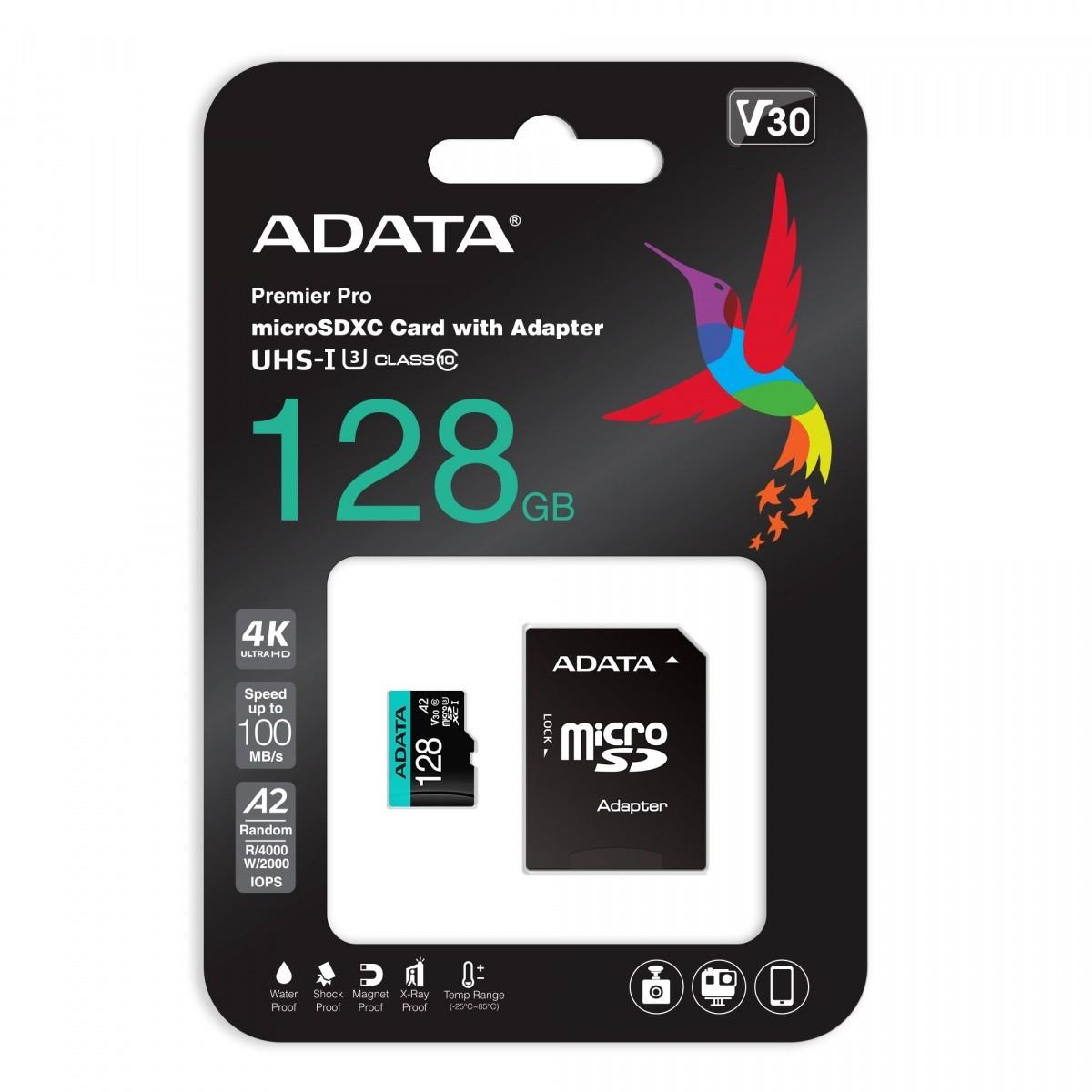 Karta pamięci microSD Premier Pro 128 GB UHS1 U3 V30 A2 + adapter