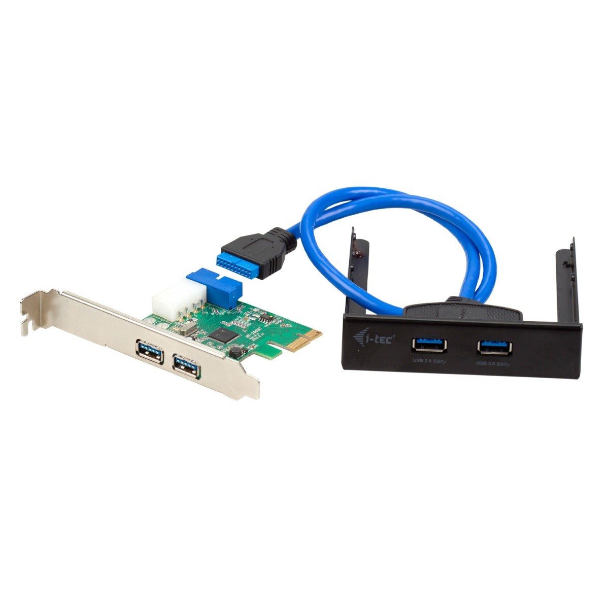 USB 3.0 Extension kit zestaw karta PCI Express 4 x USB