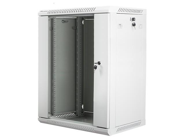 Szafa instalacyjna wisząca 19'' 15U 600X450mm szara (drzwi       szklane)