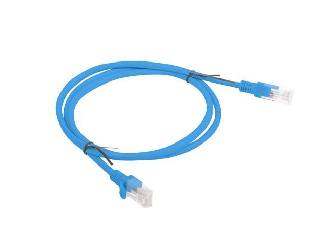 Patchcord kat.6 1.0M UTP niebieski