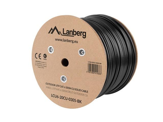 Kabel UTP Kat.6 CU 305 m drut outdoor