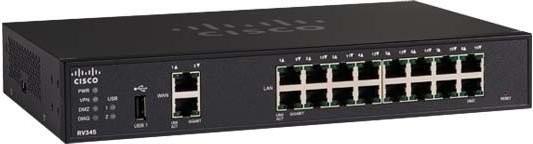 RV345 router xDSL 2x1GB WAN 16x1GbE LAN