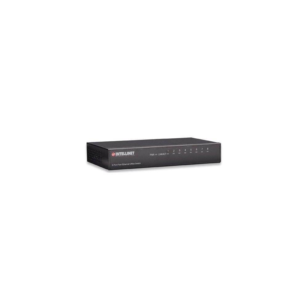 Fast Ethernet switch 8x 10/100 Mbps RJ45 metal desktop
