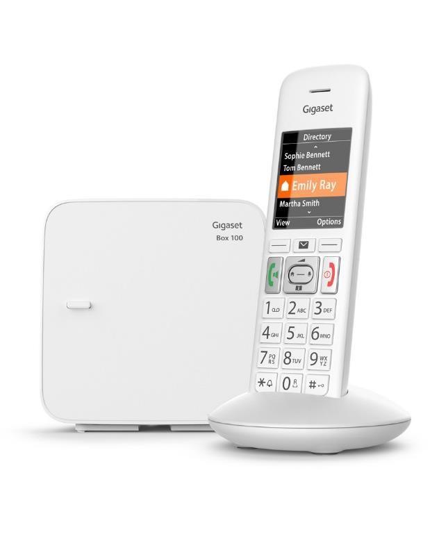 Telefon DECT E370 Biały