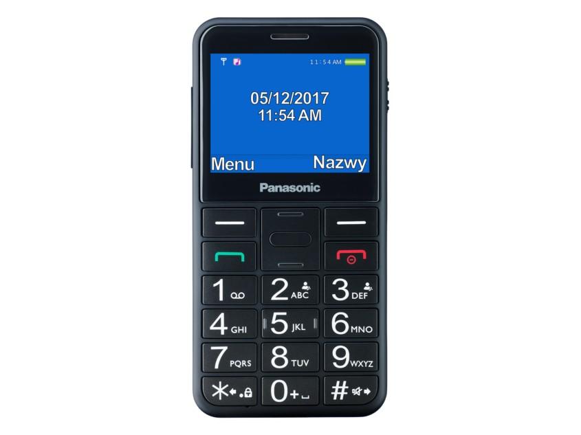 KX-TU150 TELEFON DLA SENIORA Czarny