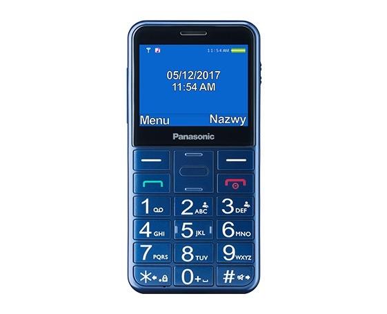 Telefon dla seniora KX-TU150 niebieski