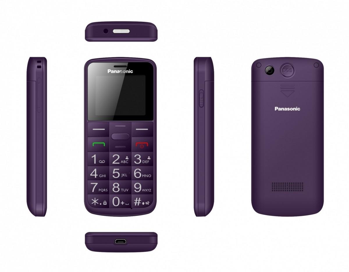 Telefon komórkowy dla seniora KX-TU110 fioletowy