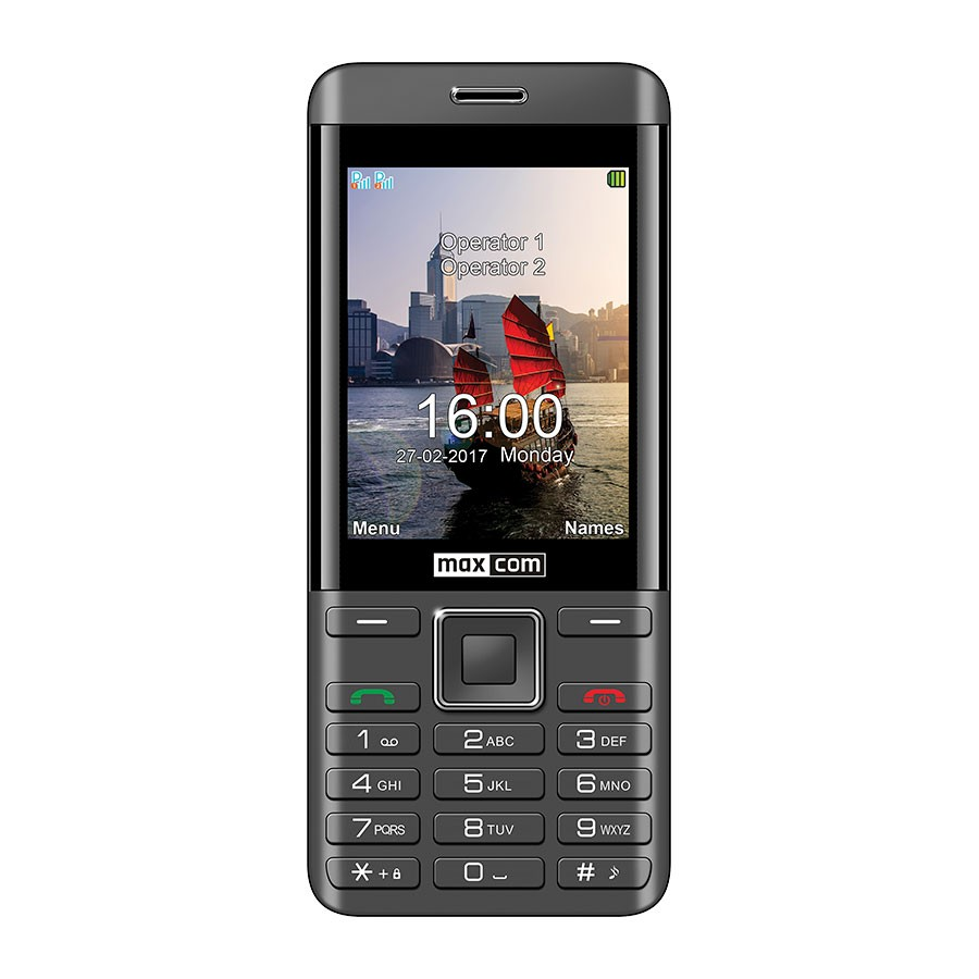 TELEFON MM 236 CZARNO-SREBRNY DUAL SIM