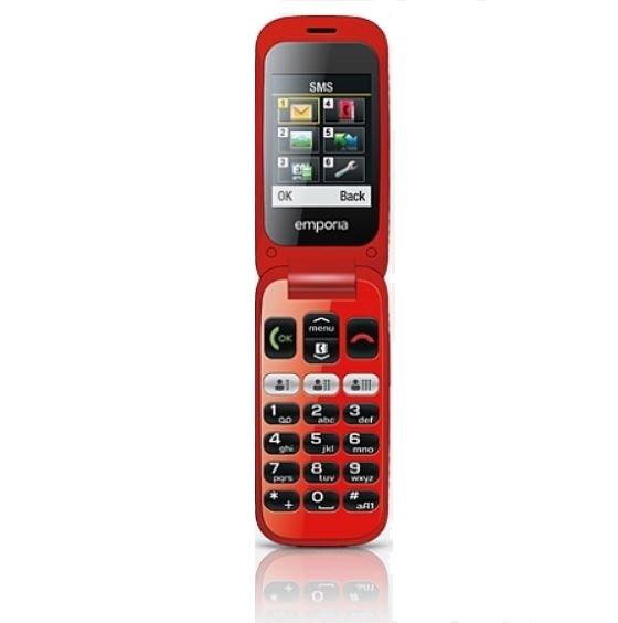 Telefon One V200 czarno-czerwony