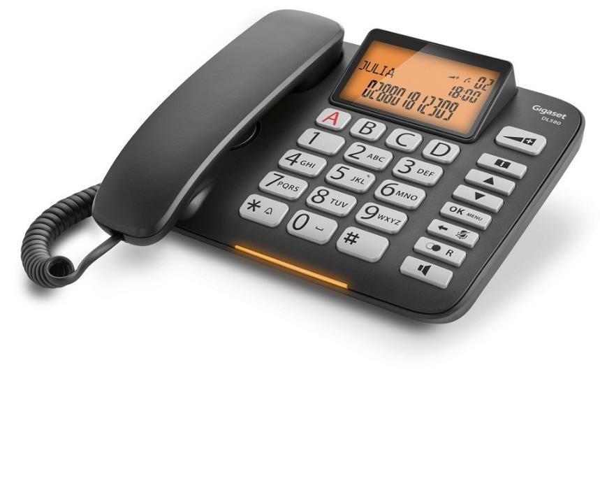 Telefon DL580 Czarny