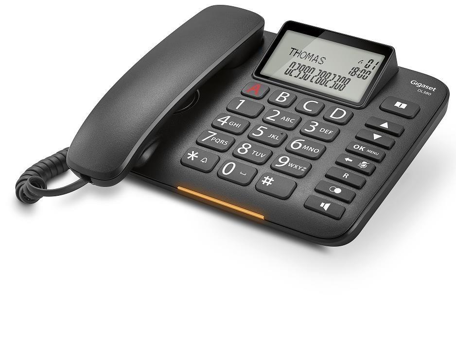 Telefon DL380 Czarny
