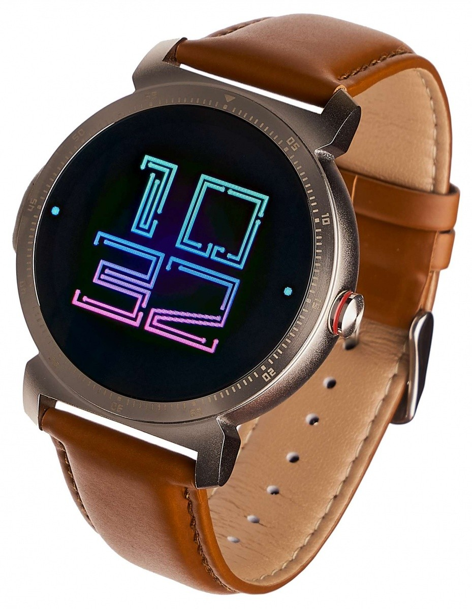 Smartwatch GT20S srebrny skórzany