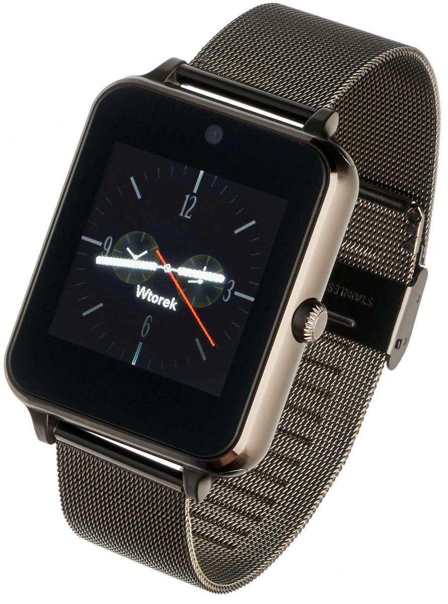 Smartwatch G25 Plus czarny stalowy