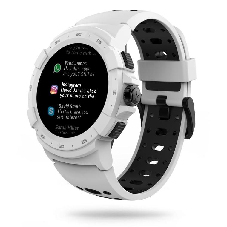 Smartwatch Zesprot2 biało-czarny