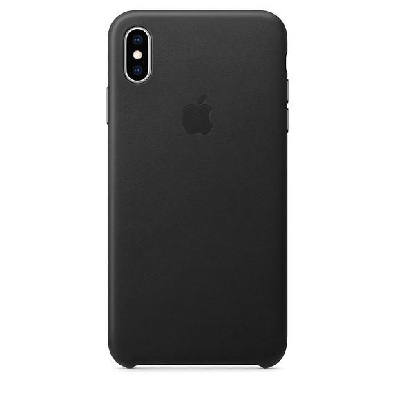 Etui skórzane iPhone XS Max - czarne