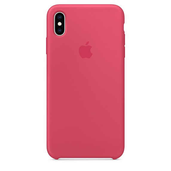 Silikonowe etui do iPhonea XS Max - hibiskus