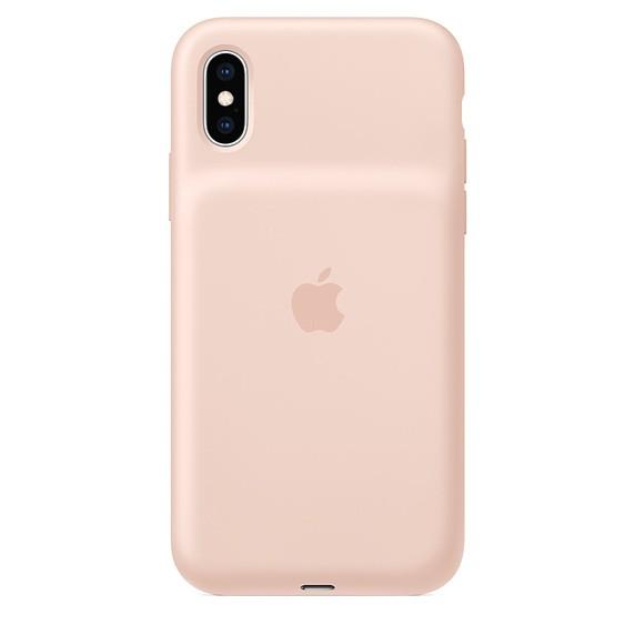 Etui Smart Battery Case iPhone XS - piaskowy róż