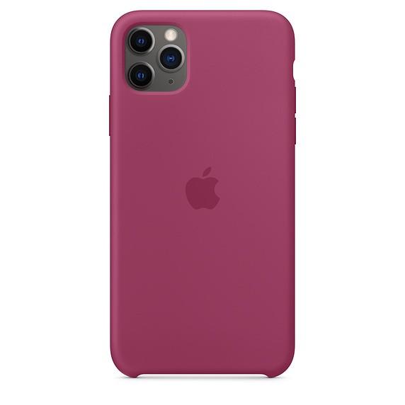 Silikonowe etui do iPhone'a 11 Pro Max - krwisty róż