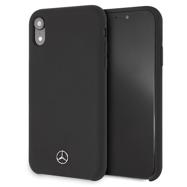 Etui hardcase MEHCI61SILBK iPhone Xr czarny Silicon