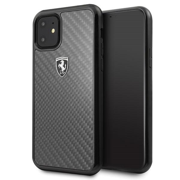 Etui hardcase FEHCAHCN61BK iPhone 11 czarny Carbon Heritage