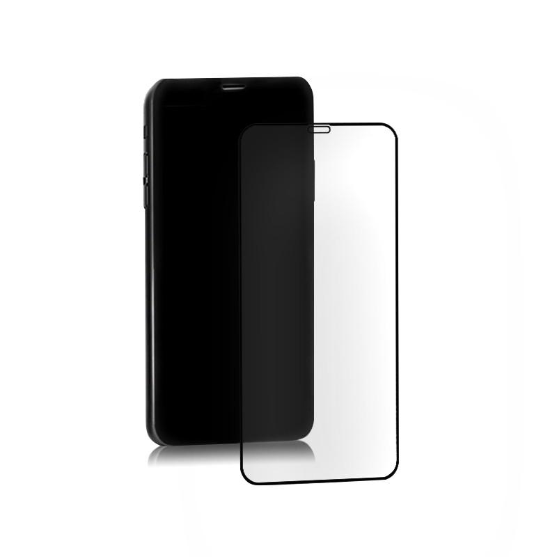 Hybrydowe szkło ochronne do iPhone Xs Max   czarne   pełne