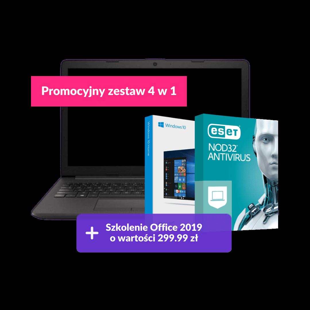 HP 250 G7 i3-8130/4GB/256/Win10H + ESET + Szkolenie Office 2019