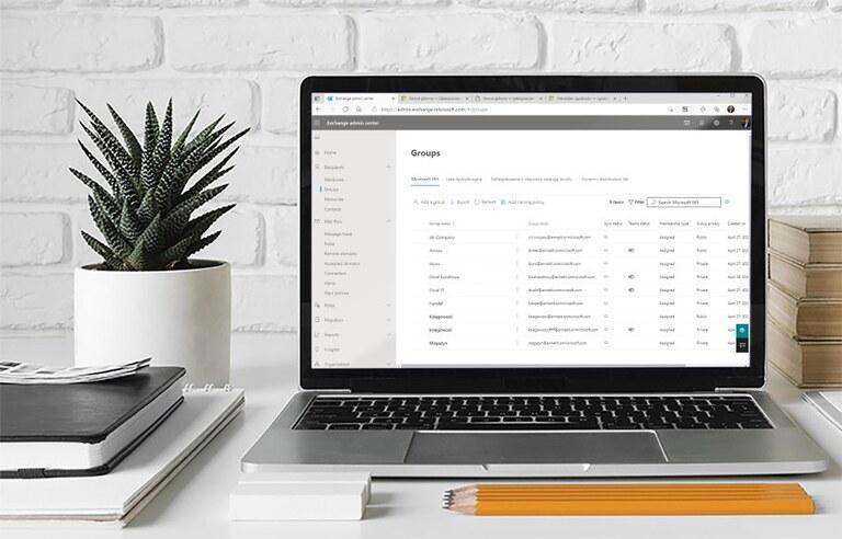 Centrum administracyjne Exchange Online - zarządzanie grupami