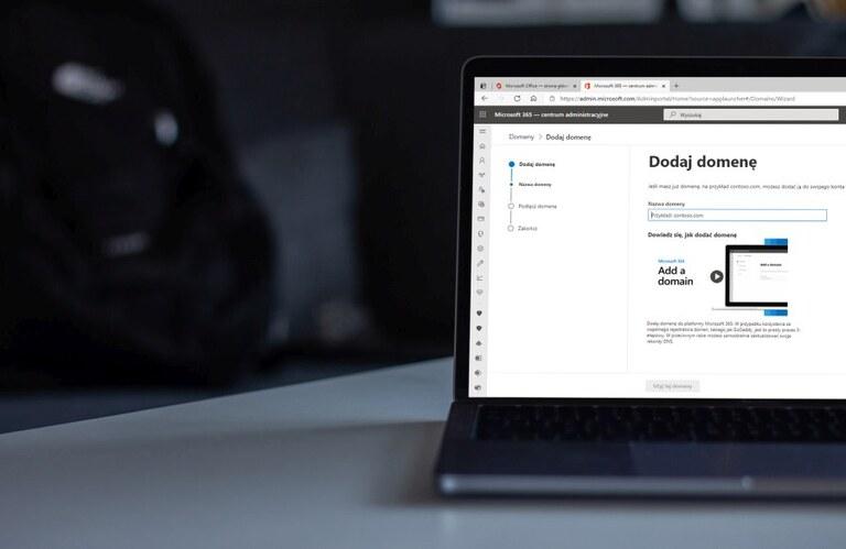 Microsoft 365 admin center - dodawanie domeny
