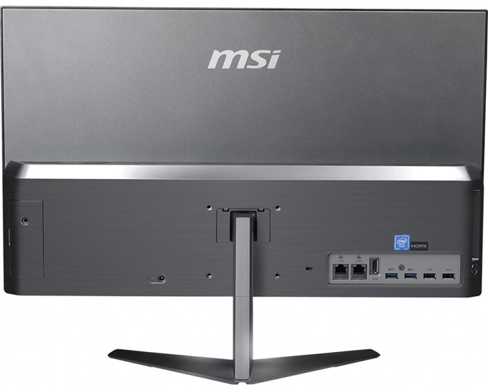 MSI AIO PRO 24X 10M 23,8''FHD/i5-10210U/8GB/512GB SSD/UMA/W10P/2Y/VESA – prezentacja tyłu AIO
