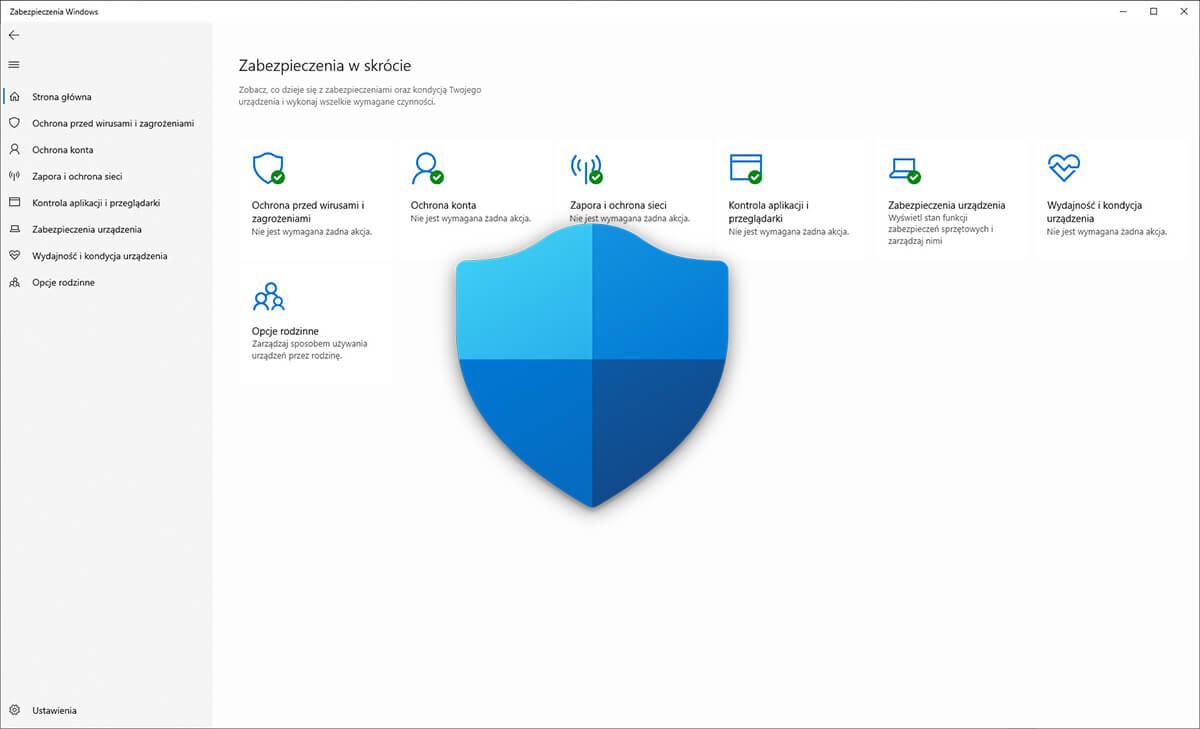 Bezpieczeństwo w Windows 10