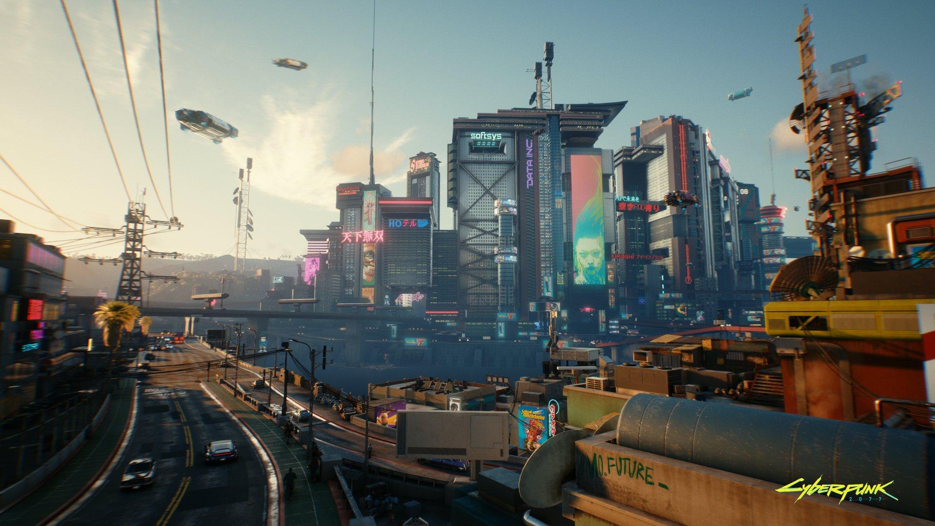 Cyberpunk 2077 - widok na miasto