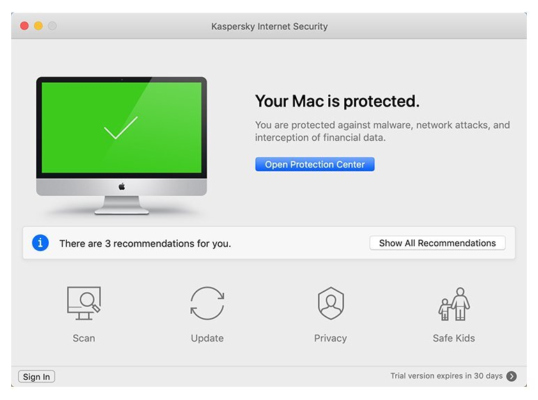 Kaspersky Internet Security dla macOS