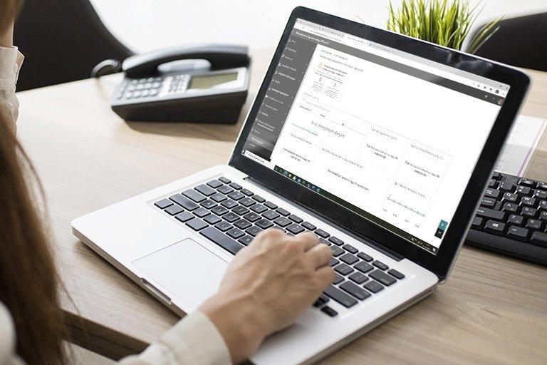 Konfiguracja zabezpieczeń - raporty usługi