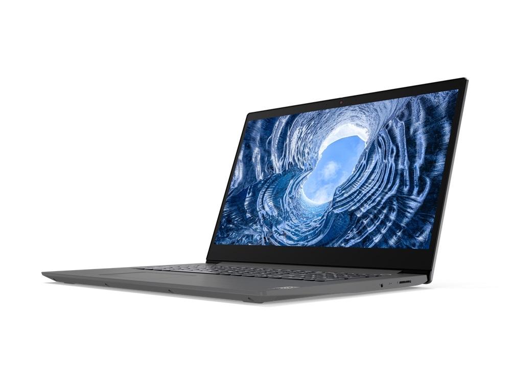 Lenovo V17-IIL 17,3''FHD/i5-1035G1/8GB/512GB SSD/MX330 2GB/W10P/2Y/Fgr Pr/Iron Grey - widok na bok laptopa