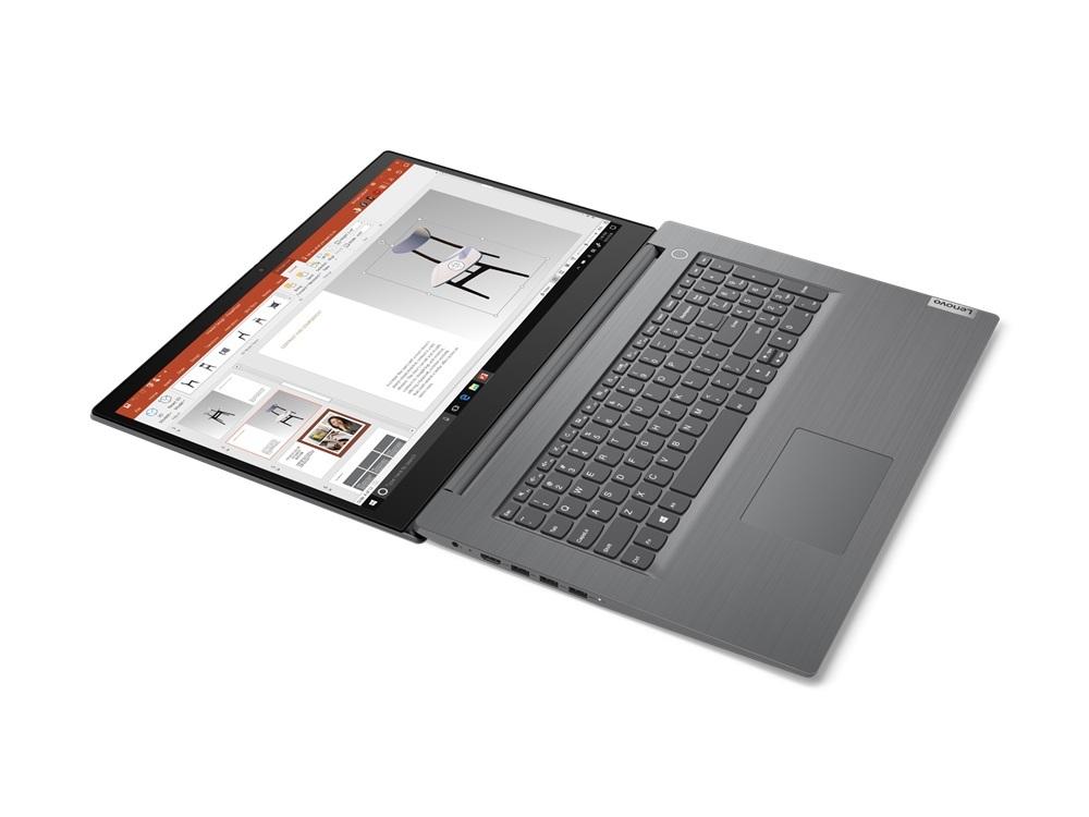 Lenovo V17-IIL 17,3''FHD/i5-1035G1/8GB/512GB SSD/MX330 2GB/W10P/2Y/Fgr Pr/Iron Grey - widok rozłożonego laptopa
