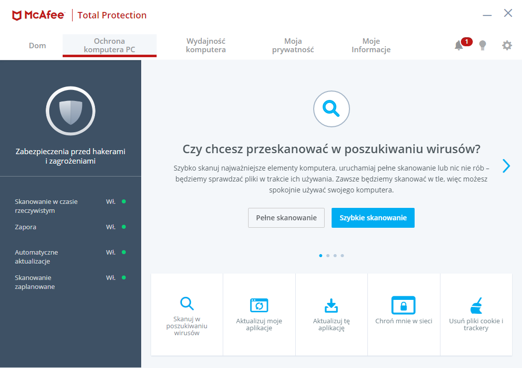 McAfee Total Protection - Ochrona PC